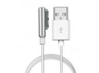 Cablu incarcare magnetic Sony Xperia Z1 argintiu Blister
