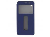 Husa piele Samsung Galaxy Grand Prime Pudini S-View albastra