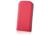 Husa piele Samsung Galaxy Grand Prime Flip Deluxe roz