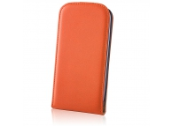Husa piele Samsung Galaxy Grand Prime Flip Deluxe portocalie