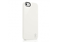 Husa plastic Apple iPhone 5 Belkin Shield alba Blister Originala