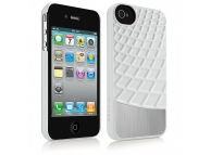 Husa plastic Apple iPhone 4 Belkin Meta F8Z864cwC00 alba Blister Originala