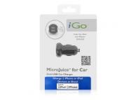 Incarcator auto dual USB iGo MicroUSB Blister Original