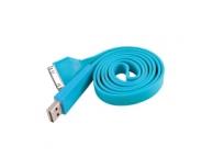 Cablu de date Apple iPhone 4 Plat albastru