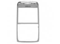 Carcasa fata Nokia E71 argintie Originala