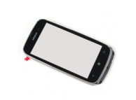 Carcasa fata cu touchscreen Nokia Lumia 610 alba Originala