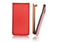 Husa piele Nokia Lumia 530 Slim Flip rosie