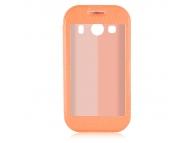 Husa piele Samsung Galaxy Ace Style LTE G357FZ Smart View portocalie