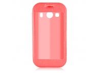 Husa piele Samsung Galaxy Ace Style LTE G357FZ Smart View rosie