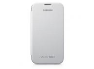 Husa piele Samsung Galaxy Note II N7100 EFC-1J9FW Flip alba Originala