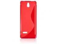 Husa silicon TPU Nokia 515 Wave rosie