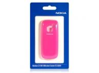 Husa silicon Nokia CC-1019 roz Blister Originala