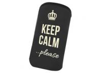 Husa textil Samsung I9105 Galaxy S II Plus Keep Calm Please