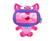 Husa textil telefon Wise Pet Mini Kitty roz Blister Originala