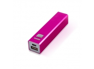Incarcator mobil de urgenta cu LED PB009 roz Blister