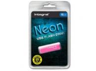 Memorie externa Integral Neon 16Gb roz Blister