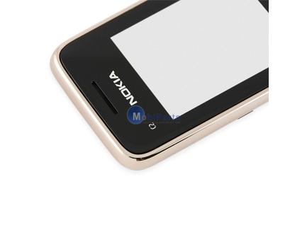 Carcasa fata Nokia C2-01 aurie Originala