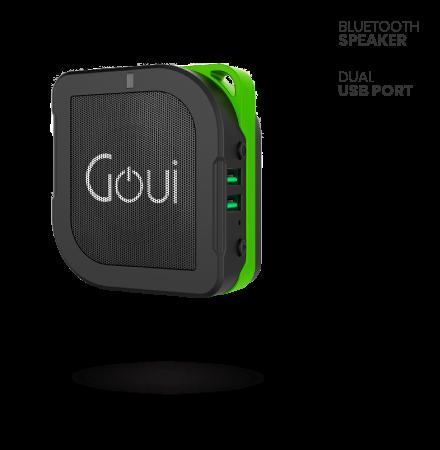 Baterie Externa Powerbank cu Difuzor Bluetooth Goui Buyuni, 5200 mA, 2 x USB,...