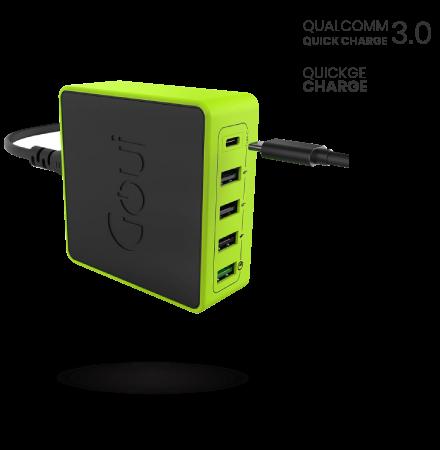 Incarcator Retea Statie USB Goui KIMBA X5, Quick Charge 3 + PD, 60W, 1 X USB ...