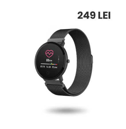 Ceas Smartwatch Forever ForeVive SB-320, Negru, Blister