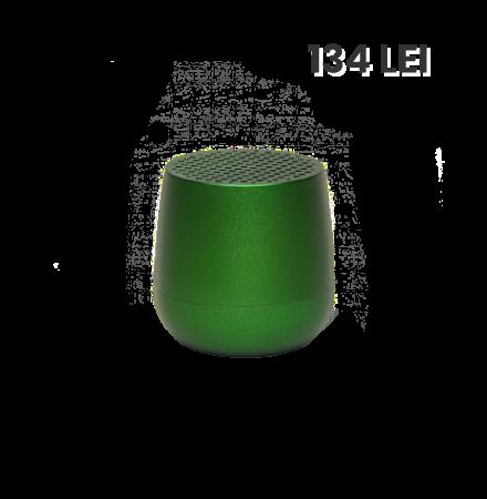Mini Boxa Bluetooth LEXON Mino, 3W, TWS, Verde Inchis, B...