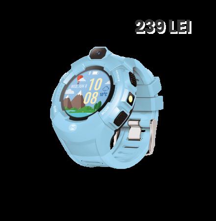 Ceas Smartwatch Forever ForeVigo SW-300, Roz Auriu, Blis...