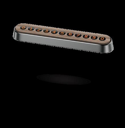 Suport Numar Telefon Auto Baseus Wood, Gri SUXUN-YM0G